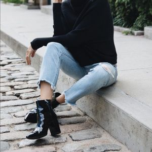 Boohoo Patent leather booties